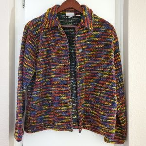 Chico's Design Multicolored Tweed Blazer Size 2